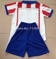 2014-15 children's Atletico home red jerseys for children kids DIEGO COSTA 19 DAVID VILLA 9 kids boys 14-15 Atletico home kits