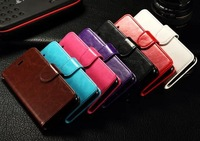 100% New Product Hot Luxury flip  PU Leather Case whit credit card For iPhone6