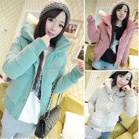 Winter women's fresh small cotton-padded jacket slim wadded jacket Women short jacket thickening cotton-padded jacket