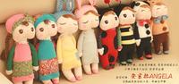 2pcs Cute Angela Dolls with Gift Box Metoo Bunny Plush Toys Stuffed Animals Panda Bee Dolls for Girls Baby Kids, Free shipping