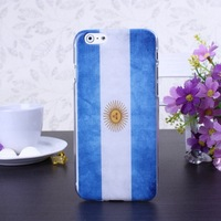 Retro Argentina Flag Color Pattern Hard Case Cover for iPhone 6 6S  4.7 inch Screen