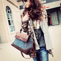 2014 women's handbag fashion bag vintage denim bag all-match messenger bags