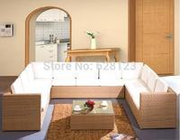 ODSF021  2014 New design Outdoor furniture villa garden  the balcony recreational sofa outdoor garden rattan bamboo sofa