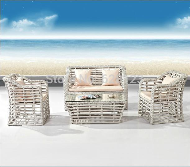 ODSF024 New style PE rattan double sofa A single chair Indoor rattan sofa, leisure rattan furniture, high-grade sofa(China (Mainland))