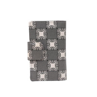 Genuine Leather Wallet Brand Cluthes Purse Plaid Twisted Flower Buckle Fashion Style Women Wallets