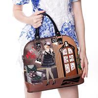braccialini bag 2014 anna series 20 patchwork handbag one shoulder cross-body women's handbag bag