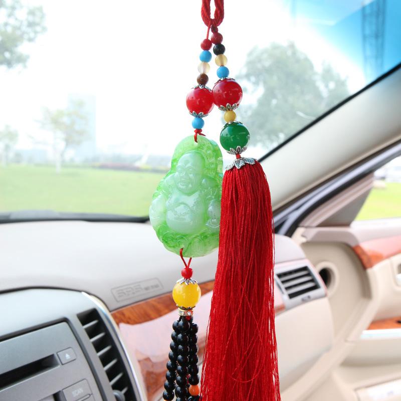 Imitation jade Buddha pendant car pendant car accessories wholesale car(China (Mainland))
