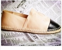 Women's genuine leather flats espadrille dress shoe casual  flats boat shoes