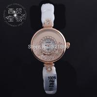 Long wave genuine high-grade gold trim dial fashion ladies diamond ceramic waterproof watches 8902