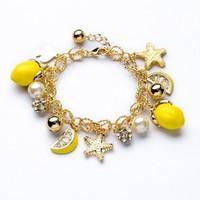 fashion bracelet for women 2014 hot selling Quietly elegant of yellow sea star mango women's bracelet Summertime joker