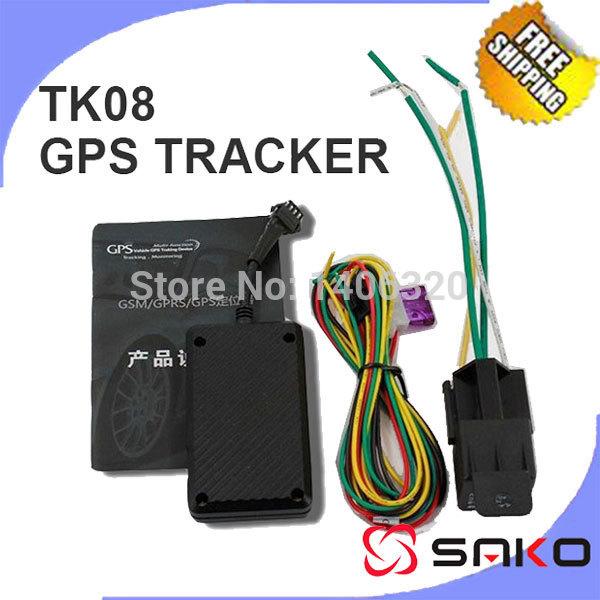 Free shipping Original GPS Tracking Upgrade TK06A TK08 Car Motorcycle GPS Tracker ACC alarm Cut Oil/circuit Relay Retail Box(China (Mainland))