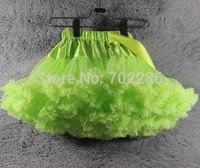 Adult luxury tutu skirts Lime green Women pettiskirts party skirts chiffon Layers lady petticoat
