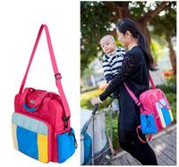 L0016 Waterproof Women Handbag Rainbow 2014 New Fashion Maternity Tote Baby Diaper Bags Nappy Mummy Bags Bolsa Maternidade