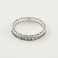 RIP036C-6 Encircle Crystal Hole Men Women ring Christmas gift 100% Solid 925 Sterling Silver Charm Rings DIY Jewelry Wholesale
