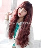 Female Elegant Wig Fashion Synthetic Hair Wigs Long Curly Big Wave sweet pear roll wigs