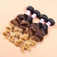 wholesale brazilian loose wave virgin hair 10pcs/lot Grade 8a virgin ombre hair weaves mix colors human soft hair free UPS/DHL