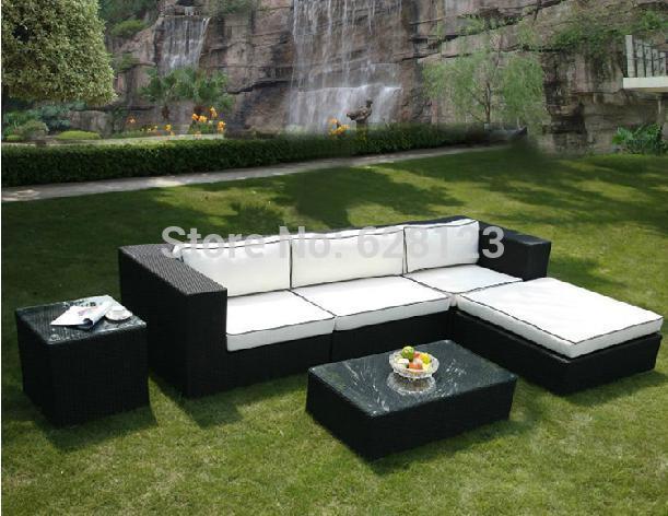 ODSF038 Rattan sofa of the sitting room balcony sofa Leisure hotel cafe outdoor rattan sofa tea table(China (Mainland))