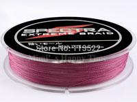 4 strands 300M PE Dyneema Braided Fishing Line 50LB 0.36mm Spectra fishing line Purple free shipping