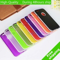 High Quality Ultra-thin transparent Pure Color TPU Skin Case for iPhone 6 Air 4.7'' Free Shipping UPS DHL EMS CPAM HKPAM