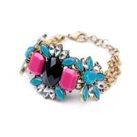fashion bracelet for women 2014 hot selling The new flowers gem joker women's bracelet Summertime joker