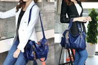 Fashion Women Ladies PU Leather Handbag Tote Shoulder Messenger Bags Blue