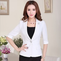 2014 the new female small suit Small suit female white cultivate one's morality 7 minutes of sleeve thin commute short coat