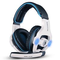 Best Headphone Original Brand Sades 7.1 Channel Professional Game Headset Usb Computer Headphone With Mic Bass Earphone