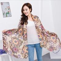 Hot Sale!2014 New Fashion Scarves for Women,Print  Scarves Solemn and Elegant winter warm Tassel Scarf Wrap Shawl