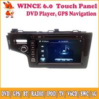 Wince Car DVD Meida Player Navigation Support 3G GPS Radio Camera Input Video Input iPod Bluetooth TV SWC For Honda Fit 2014