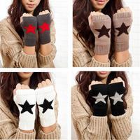 2014 New Fingerless Women Gloves,Fashion Ladies Knitted Glove,Knitted Mitten Lengthen Half-finger Gloves Autumn and Winter