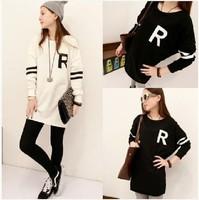 Free Shipping Hot Sale 2014 new autumn wind in Harajuku long long sleeve T-shirt loose code hoodies women 8116#