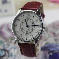 New 2014 Fashion vintage dress watches for women men casual quartz watch leather strap wristwatch