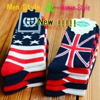 Brand High Quality Socks New Arrivel British USA Style Rabbit Wool Socks Lovers Flag Socks Warm Socks Men Women Ankle Soxs