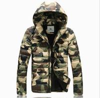 New 2014 Men Cotton Padded Jacket Winter Outdoors Parka Jaqueta Masculina Hooded Zipper Clothing Causal Coat Red Black