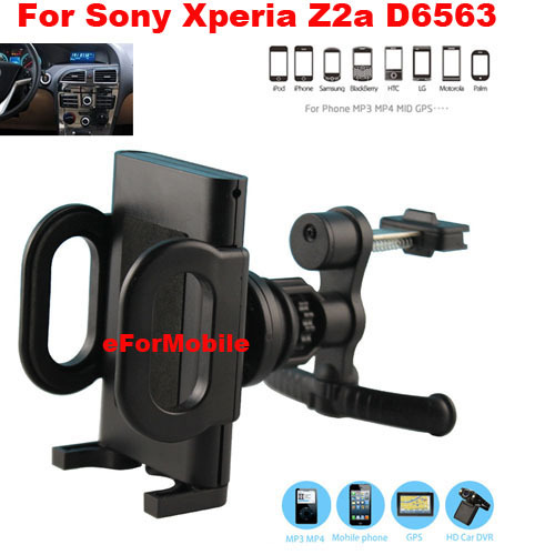 2014 New Mobile Phone Car Holder Car Air Vent Holder Rotary Holder Mobile Phone Stand For Sony Xperia Z2a ZL2 D6563(China (Mainland))