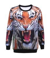 Wholesale European Tiger Sport Suit Hoody Digital Printed Women Sweatshirt Hot Selling