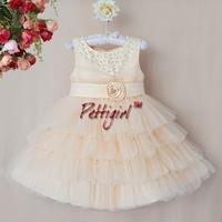 2014 New Arrival Girls Christmas Dress Girls Cream Polyester Dresses Children Fashion Party Dresses For Girls GD40814-49