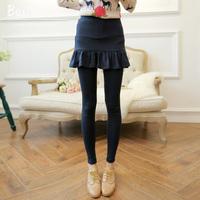4 Colors 2014 New Autumn-Winter Women's Women Pants With Mini Faux Skirt Fashion Cotton Warm Comfortable False Two Pieces Pants