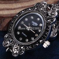 2014 new fashion vintage bracelet rhinestone ladies wristwatches full steel luxury women wrist dress quartz watch