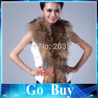 Free shipping 610213 New Autumn Spring Winter High Imitation Fox Fur Vest Gilet Outerwear Women coat