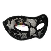 Unisex Fashion Design Ladies Party Dancing Hallowmas Hollow Masquerade Lace Fancy Half Face Eye Veil Mask ( Black)