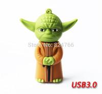 Cartoon Star Wars Master Yoda USB3.0 Flash Drive Thumb Stick Memory Flash Pendrive 8gb 16gb 32gb 64gb free shipping