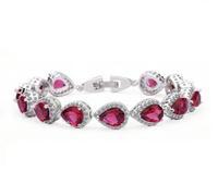 AAA cubic zirconia bracelet for women 18k white gold plated bohemia heart bracelet for women fashion jewelry 2014 M315