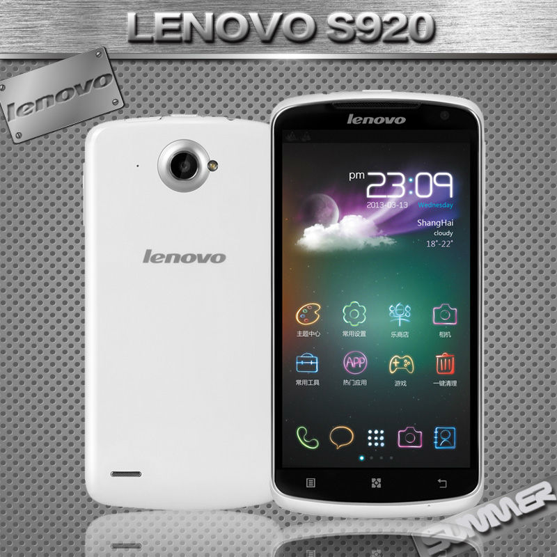Мобильный телефон Lenovo S920 MTK6589 Android 5.3 IPS 4 ROM 8.0MP Multi