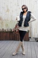 Free Shippping Fashion Womens Faux Fur Vest Warm Sleeveless Coat Short Waistcoat  7 Colors [3.5 70-6220]