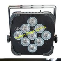 wireless battrery powered par light par can with 9pcs 10w quad-color 4in1 led lamp with flightcase 20pcsxlot