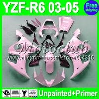 7gifts Unpainted+Primer Fairing For YAMAHA YZF-R6 03-05 YZFR6 YZF600 YZF R6 R 6 YZF 600 03 04 05 2003 2004 2005 Fairings