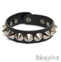 2014 NEW stile bracelet couple rivet punk leather bracelet unisex casual fashion bracelet with jewelry boutique