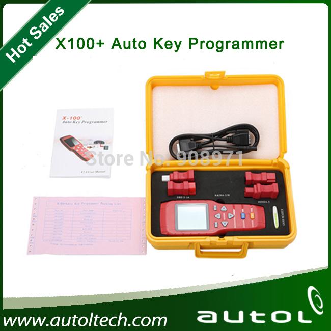 2014 Hot vender Original X 100 + X100 mais a Auto programador chave atualização Online X100 programador chave transporte rápido(China (Mainland))