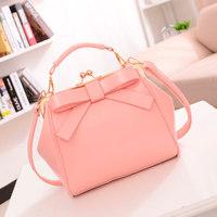 Free shipping 2014 new women teamed port bow bag Korean fashion portable shoulder bag Messenger packet